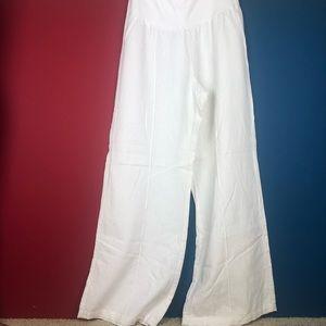Pants - Small wide legged white linen pants